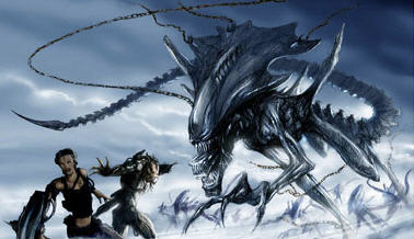 Final rendering of the Alien Queen chasing our heroes Predalien Concept Artwork!!!!!