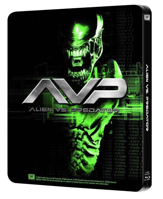 AvP Steelbook Blu-Ray Back  [UK] (2014) Alien vs Predator