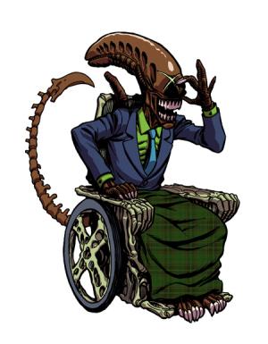 Alien Hybrid Cartoons