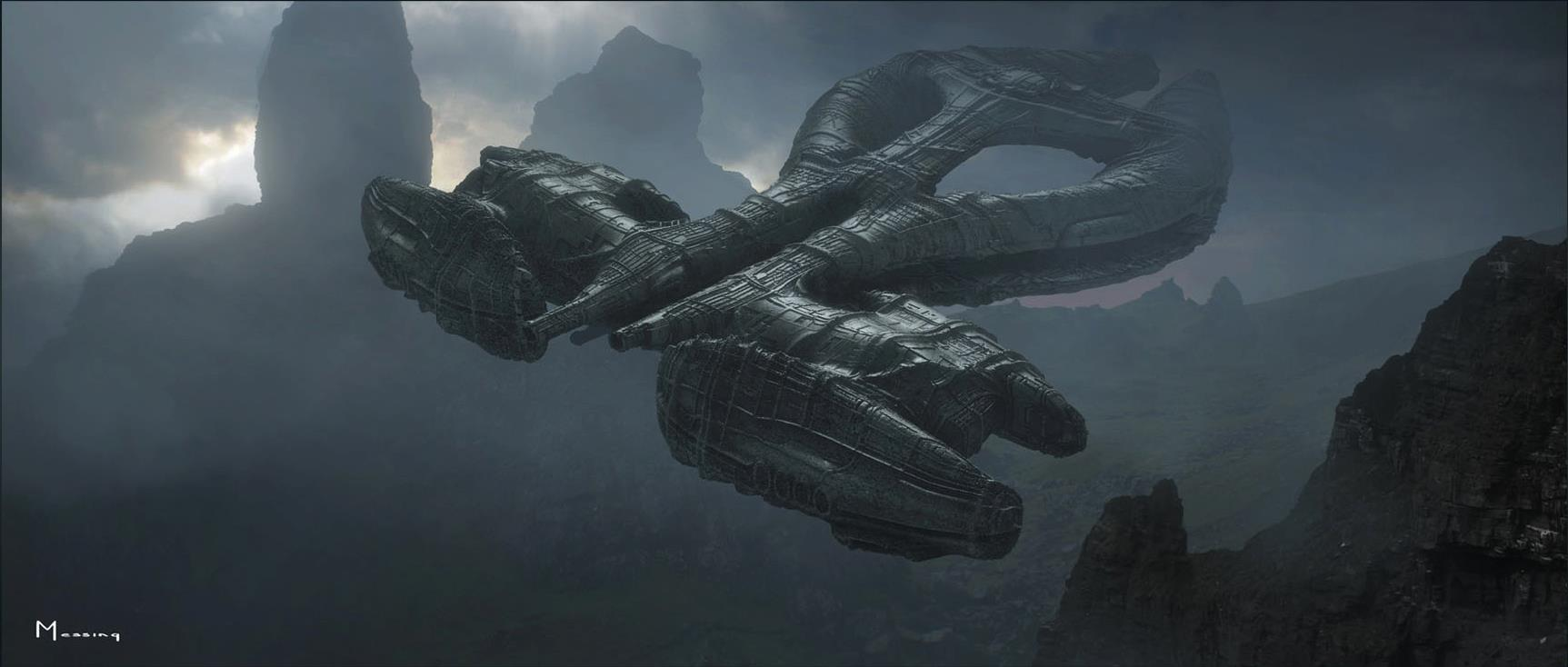 New prometheus concept art and set images avpgalaxy for Prometheus xenomorph mural