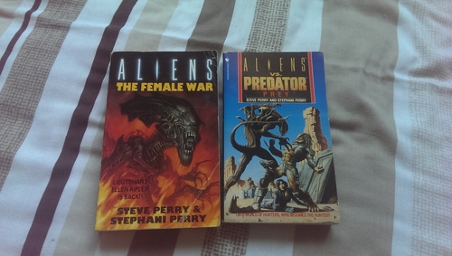 Aliens: Female War and Aliens vs. Predator: Prey, both co-written by Steve and S.D Perry Stephani Danelle Perry Interview