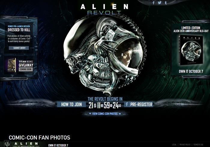 alien-revolt 20th Century Fox Launches Alien Revolt Minisite