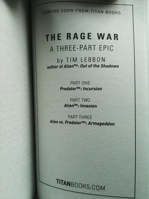 191114_03 New AvP Novel Series from Tim Lebbon