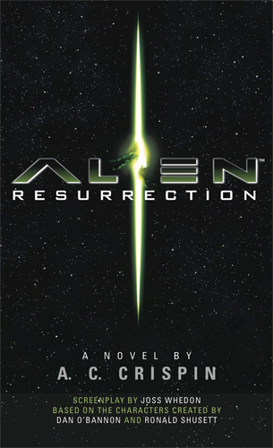 The cover art for the Alien Resurrection novelization.  Alien Resurrection Novelization Review