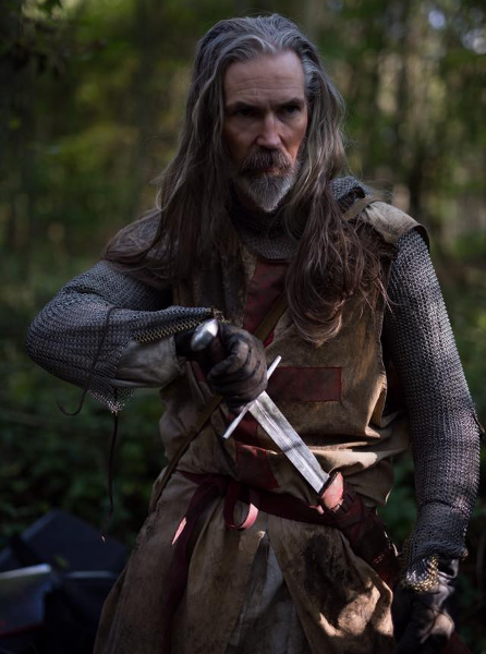 Brother Richard, played by Jon Campling, decked out in Templar costuming. James Bushe & Simon Rowling Interview (Predator: Dark Ages)