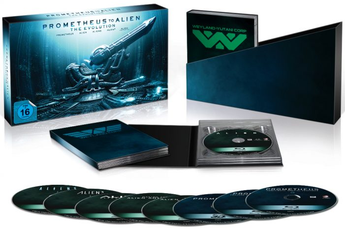 France/Germany/Japan Deluxe Version Set Prometheus to Alien: The Evolution Blu-Ray Set