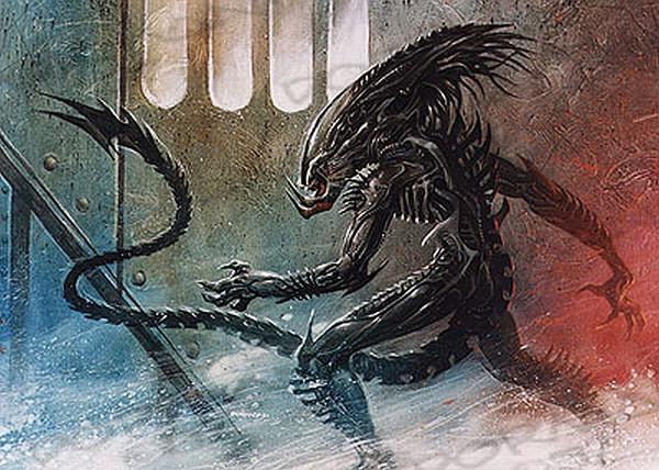 Dave Dorman's PredAlien design from the 1990s for the AvP film. The Hunt Begins: The Early Days of Peter Briggs' Alien vs. Predator