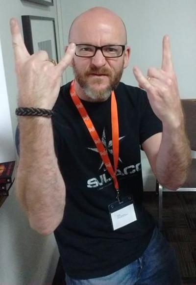 Author Tim Lebbon at Fantasycon 2015.  Predator - Incursion (The Rage War Part 1) Review