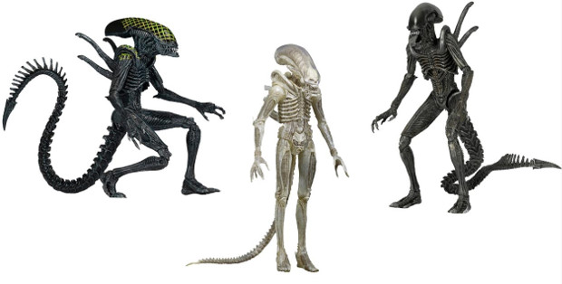 NECA Aliens Series 7 including Grid Alien, AvP Warrior and Translucent Big Chap. NECA Aliens Series 7 Announced