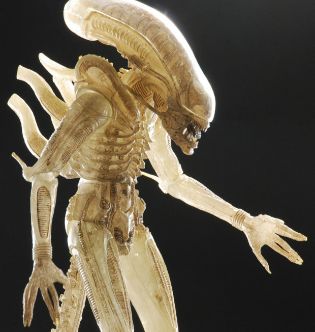 The concept of a translucent suit was explored during the production of Alien but was ultimately abandoned. NECA Aliens Series 7 Announced