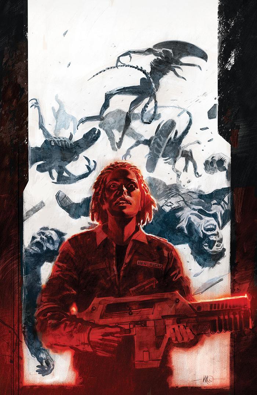 Massimo Carnevale's cover art for Aliens: Defiance #4. Comics Update - Aliens: Defiance #4 & Prometheus: Life & Death #2