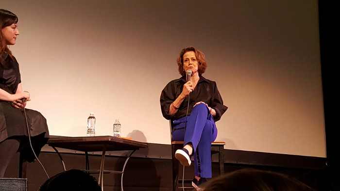 "Talking at a Q&amp;A at The Town House in New York, Sigourney Weaver says that Alien 5 is the ""most satisfying"" end of the Alien story! Picture courtesy of Aswad Corneliu via the <a href=""https://www.facebook.com/groups/WYbulletin/"" target=""_blank"">Weyland-Yutani Bulletin</a>. Alien 5 is the"