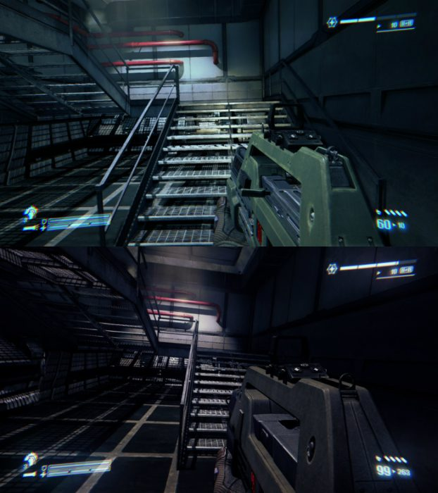 A comparison between the current PC version of ACM on top and the Overhaul Mod below. New Aliens: Colonial Marines Overhaul Mod Released!