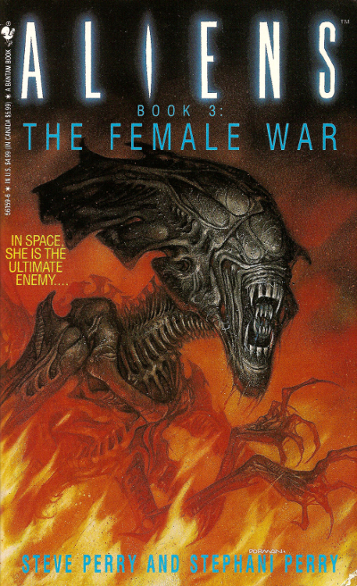 Cover art for the earlier release of Aliens: The Female War. Artwork by Dave Dorman. Aliens: The Female War Review