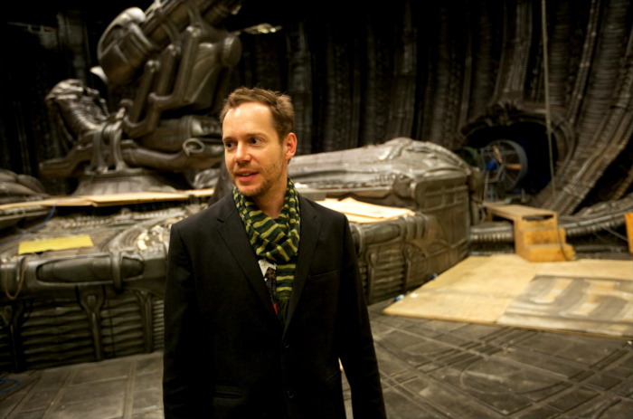 Jon Spaihts on the set of Prometheus. Engineering Prometheus - From Jon Spaihts to Damon Lindelof
