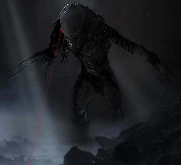 While promoting The Nice Guys, Shane Black has talked about The Predator costume design. Picture is Predators concept art by Joseph C. Pepe. Shane Black Talks The Predator Costume Design!