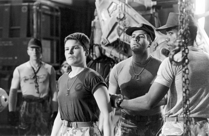 Trevor Steedman on set with fellow Colonial Marines Cynthia Scott and Ricco Ross. Trevor Steedman Interview