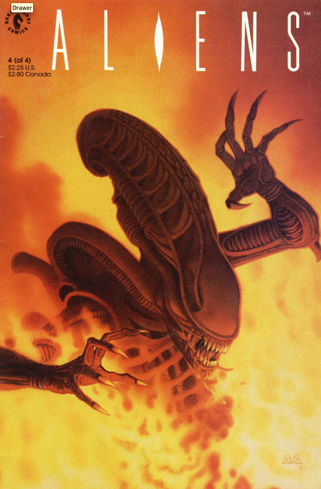 Aliens: The Original Series Volume 2 announced! Den Beauvais' gorgeous cover art for #4 of the original run of Aliens: Book 2. Aliens: The Original Series Volume 2 Announced