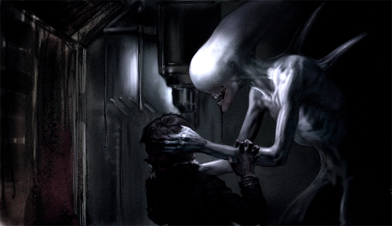Prometheus briefly explored the concept of a white proto-Alien.  AvPGalaxy Exclusive: The Neomorphs - Alien: Covenant's New Aliens!