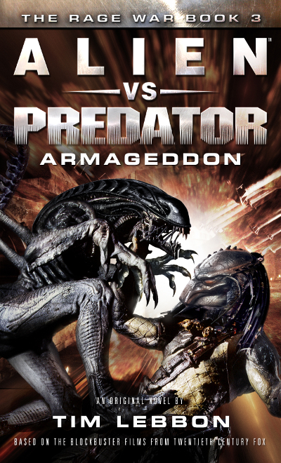 The cover art for Alien vs. Predator: Armageddon. Tim Lebbon Interview (The Rage War)