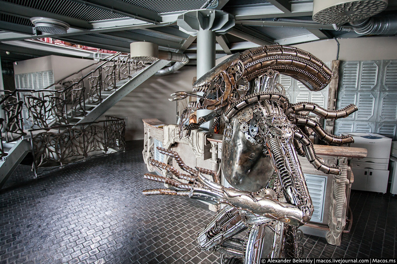 Alvernia Studios is furnished with a metal Alien statue and very Giger-esque designs throughout the building. Photo by Alexander Belenkly.  Harry Gregson-Williams No Longer Scoring Alien: Covenant