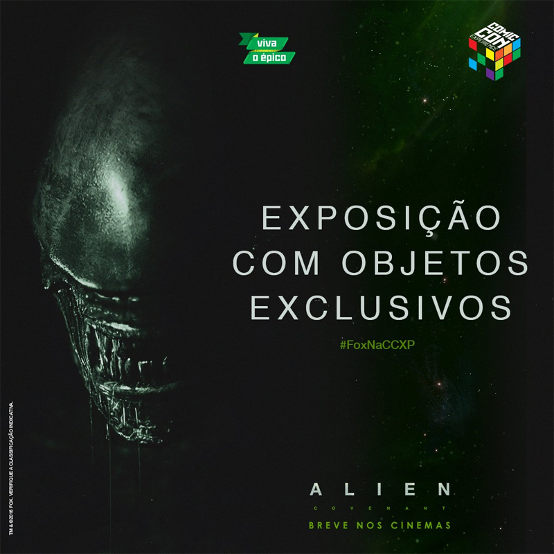 """Exhibition with exclusive objects."" It would appear that 20th Century Fox will be displaying props from Alien: Covenant at Comic Con Experience.  Alien: Covenant Prop Display at Comic Con Experience?"