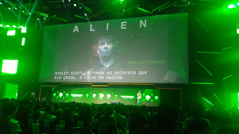 20th Century Fox screens Alien: Covenant behind-the-scenes footage at CCXP. Photo via Jornalismo Júnior. 20th Century Fox Screens Alien: Covenant Behind-the-Scenes Footage at CCXP!