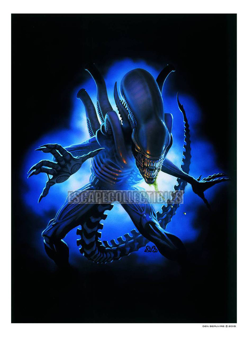 Alien and Predator prints by the legendary Den Beauvais are available for purchase via Escape Collectibles. Limited Edition Alien & Predator Prints by Legendary Den Beauvais