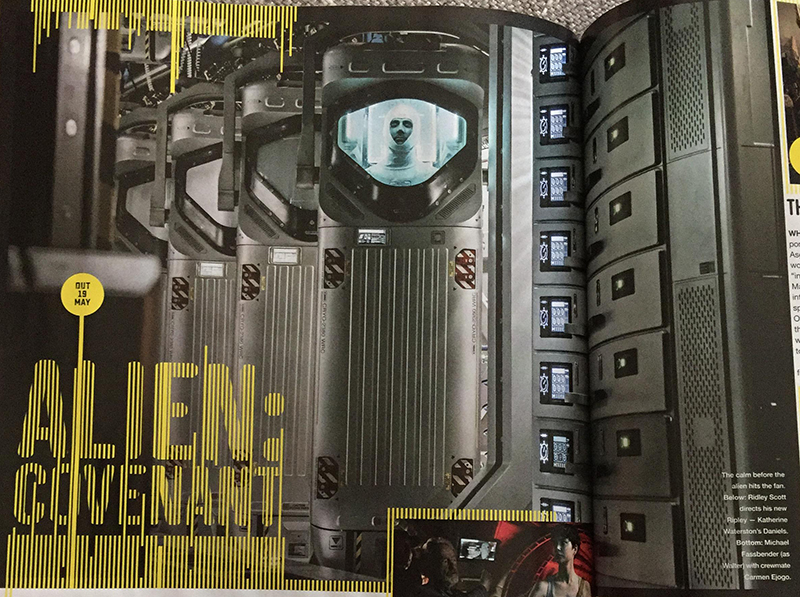New Alien: Covenant Stills in Latest Issue of Empire Magazine