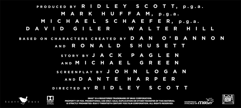 Dante Harper Receives Writer Credit on Alien: Covenant