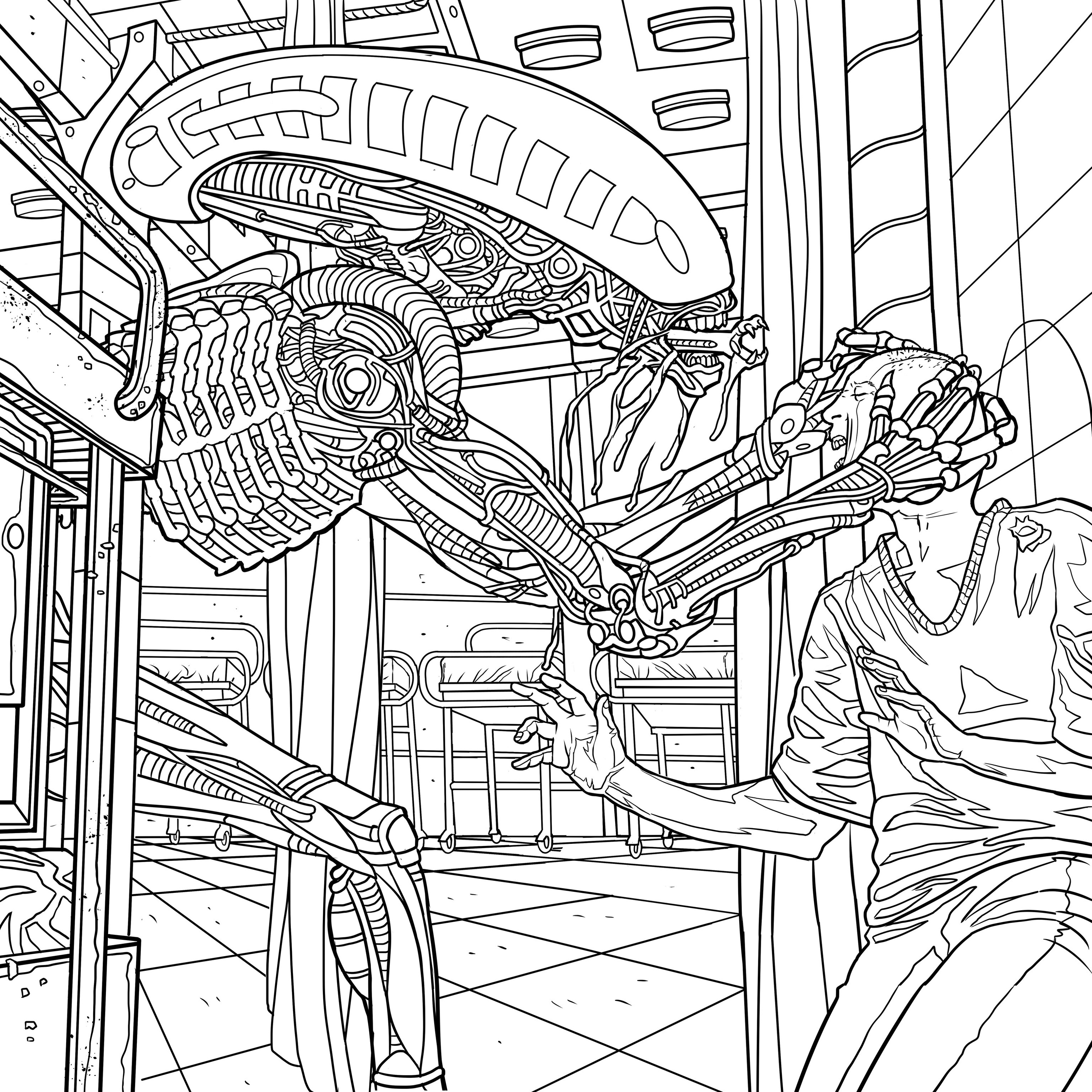 alien coloring book pages available for download