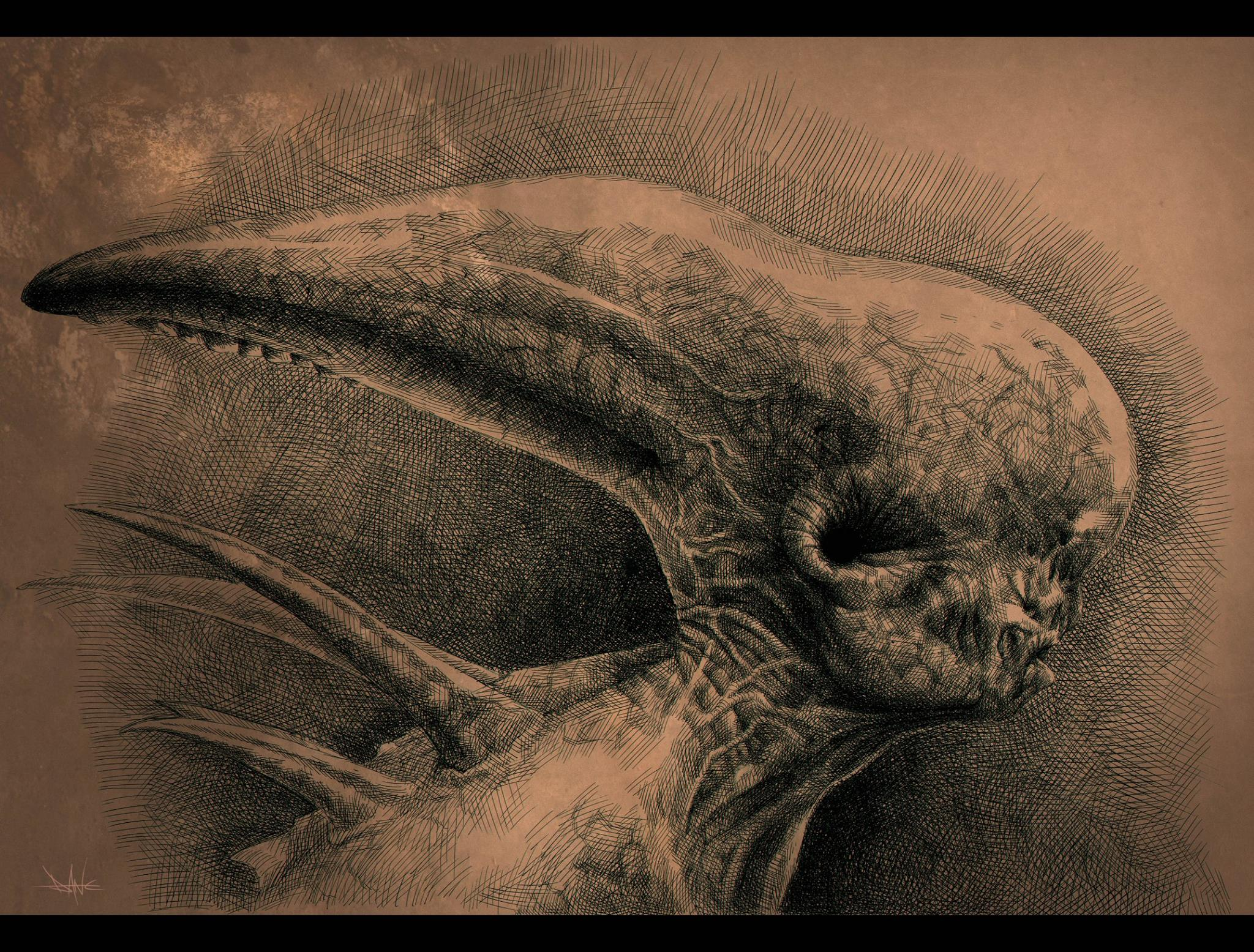 Dane Hallett & Matt Hatton Share Incredible Alien: Covenant Illustrations
