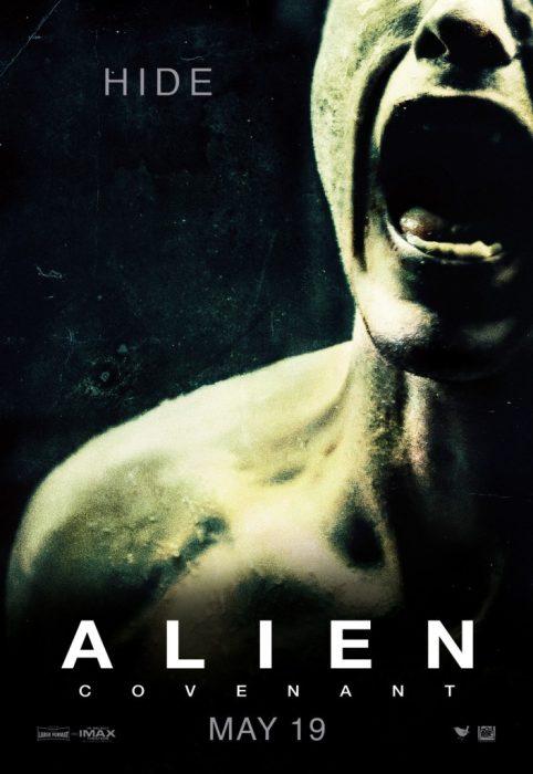 Three New Alien Covenant Posters: Hide, Scream, Pray