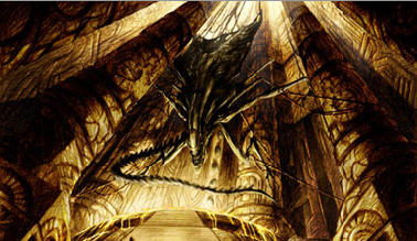 Final rendering of the Alien Queen chained in the pyramid Predalien Concept Artwork!!!!!