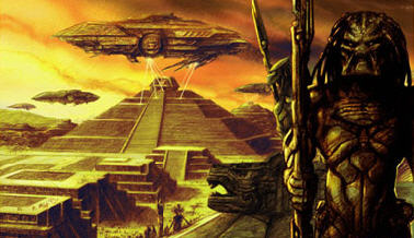 Predators worshipped by the ancient Mayan people Predalien Concept Artwork!!!!!