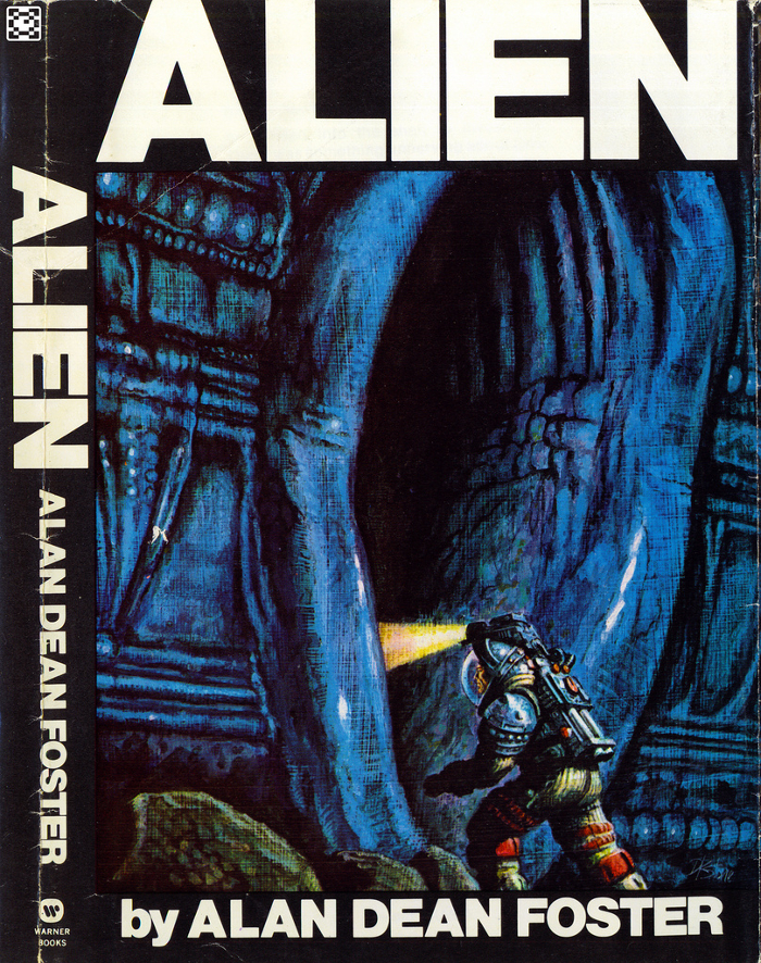 One of the many covers for Alan Dean Foster's Alien novelization.  Alan Dean Foster Interview