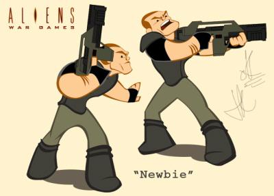 20070213_03 Aliens War Games Cartoon Short