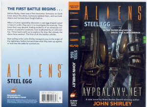 20070221 Aliens Steel Egg Cover and Blurb