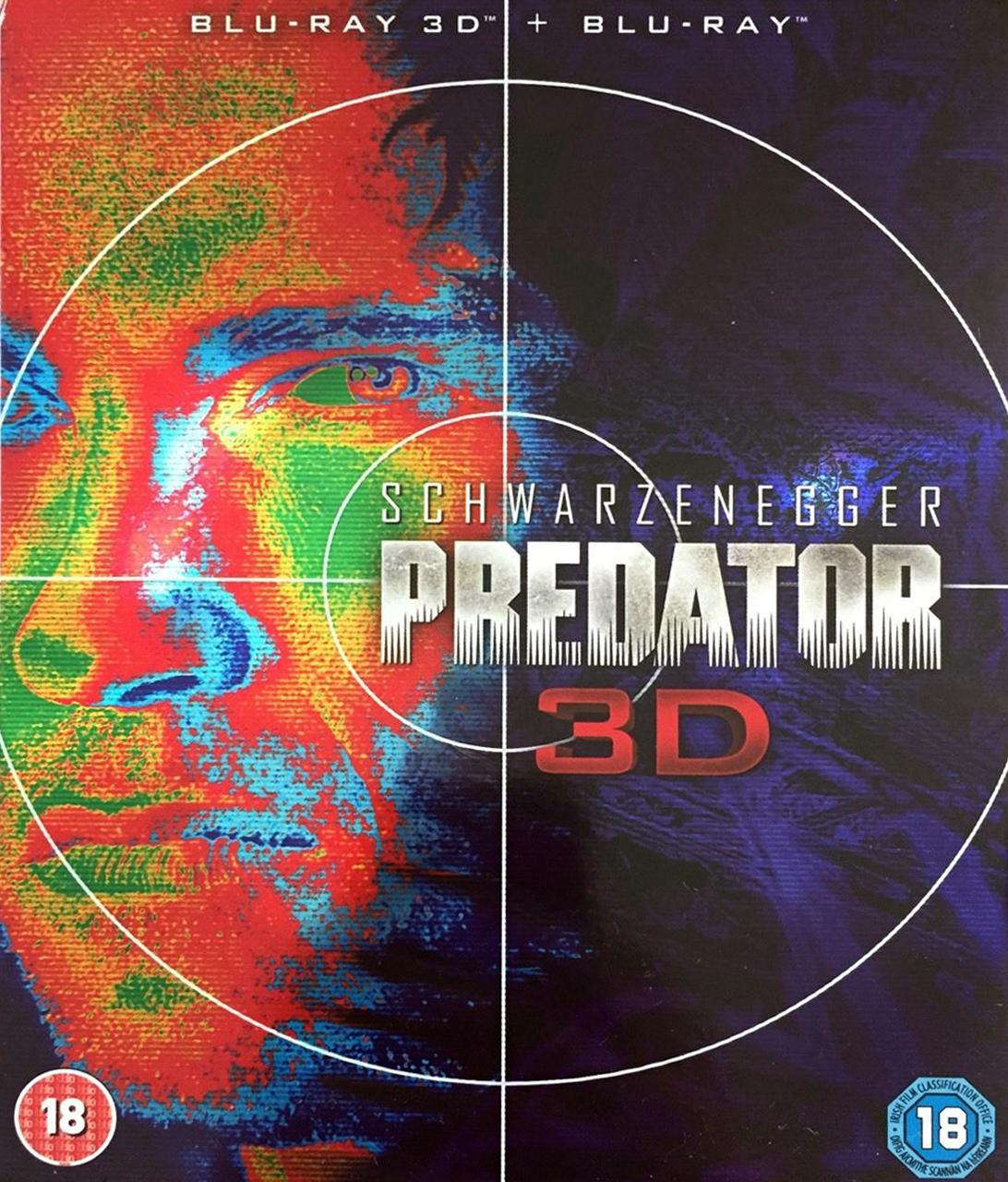 Predator 3D Blu-Ray Slipcase Front [UK] (2013) Predator DVDs & Blu-Rays