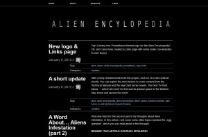 Alien Encyclopedia Fansite Launched