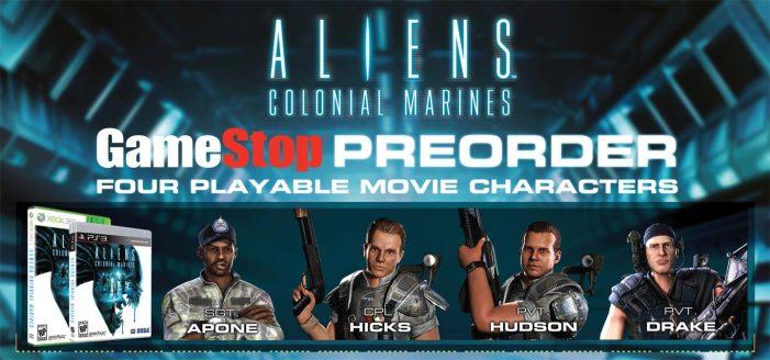Aliens Colonial Marines Pre-order Skins