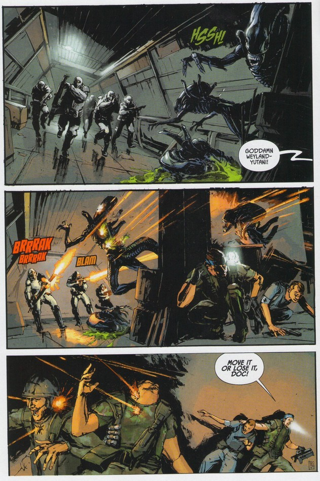 Aliens Colonial Marines Dark Horse Comic Preview Avpgalaxy