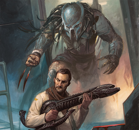Note the Engineer-esqe weapon in this image. Predator Comic Series Preview