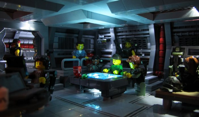 Aliens Lego James Cameron's Aliens Movie Re-Created in Lego