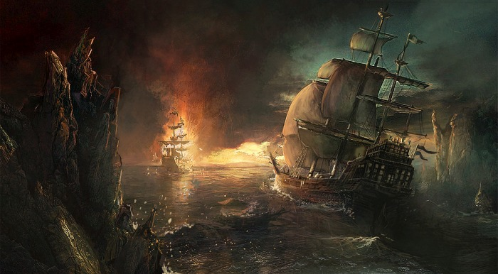Predator on Pirate Ship Where should Shane Black's Predator Sequel take place?
