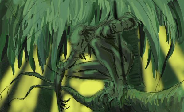 predatorpitch01 Director Vincenzo Natali Shares His Predator Pitch Artwork