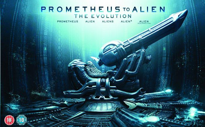 UK Deluxe Version Cover Prometheus to Alien: The Evolution Blu-Ray Set