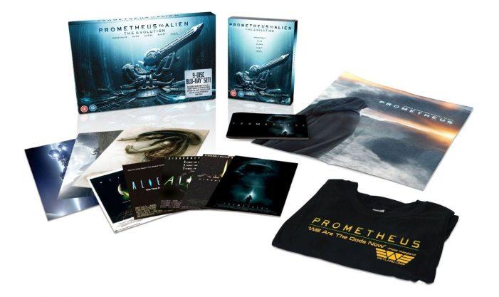 UK Deluxe Version Set Prometheus to Alien: The Evolution Blu-Ray Set