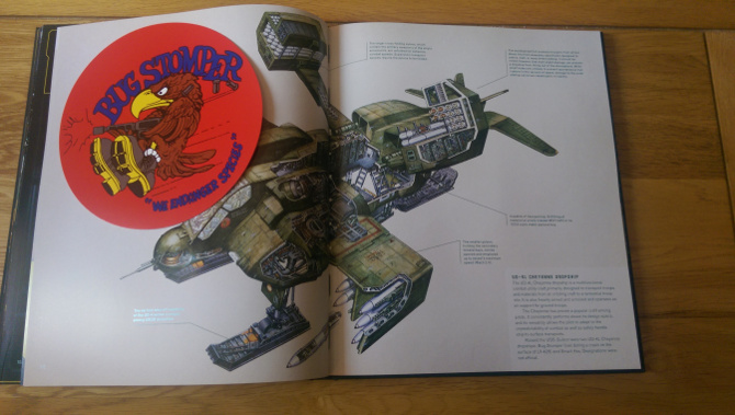 Dropship cross-section drawn by Alien: The Weyland-Yutani Report Preview