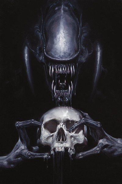 David Palumbo's gorgeous Aliens- Fire and Stone cover art. This is #3.  Aliens - Fire and Stone Review